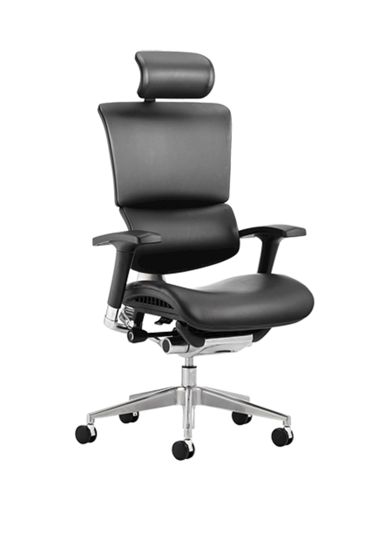 posture leather chair eames outdoor lounge ergo dynamic black bonded