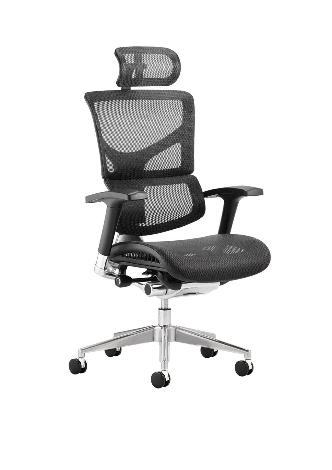 Ergo Dynamic Posture Chair Black Mesh Black Frame With