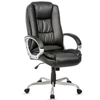 Merax Ergonomic PU Leather High Back Office Chair, Black
