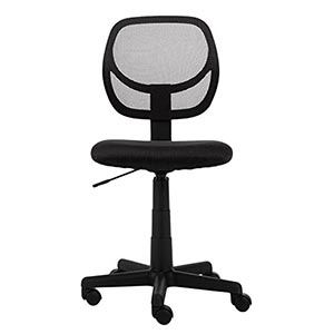 black computer chair french leather club amazonbasics low back chairs review best office