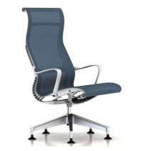 Herman Miller Setu Lounge Chair, Berry Blue