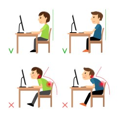 Sitting Posture On Chair In Office Side Chairs With Casters 5 Ways To Stop Work Related Back Pain From