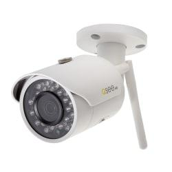 Keeping tabs on your property gives you peace of mind. This security camera features a CMOS sensor and an 81 degree viewing angle to help you see what's going on at all times. Night vision even allows a clear view in low-light conditions.  Compatible with Q-See IP NVR systems.  CMOS sensor and 3.0-megapixel camera deliver 2304 x 1536 resolution for crystal-clear images.  Allows you to see up to 100ft. away at night.  Auto focus and auto light adjustment help you see as the light conditions change.  Wireless capability works from up to 164ft. away.  81 degree viewing angle provides a large area on screen at all times.  Wi-Fi (802.11b/g/n) technology works with your smartphone or tablet.  IP67 rated to protect against damage from inclement conditions.  Mountable design can be set up on your wall.  Backed by the manufacturer's 2-year limited warranty.