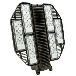 The Dorado2 is a LED luminaire designed to be mounted vertically or horizontally in outdoor applications. High-performance LEDs provide light where you need it, at a fraction of the operating cost of HID technologies.  Produces a brightness of 45,200 lumens.  5000 Kelvin (Day Light) appearance.  Get up to 200,000 hour rated life.  UL listed for performance and safety.  Dimensions: 23.2in.H x 21in.W x 7.1in.D  Weight: 34 lb  Backed by the manufacturer's 10-year warranty.  Energy efficient - designed to use less energy than alternative products, potentially helping you save money and reduce your carbon footprint.  UL Claim Validation - UL environmental claim validations lend third-party credibility to single-attribute environmental claims.