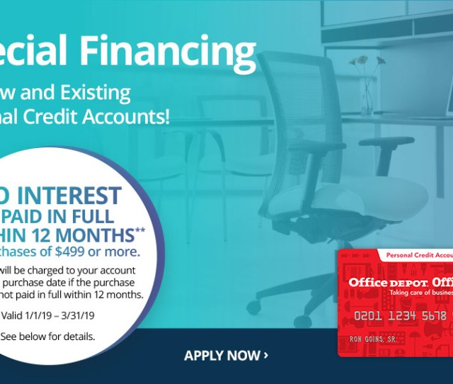 Special Financing 2019