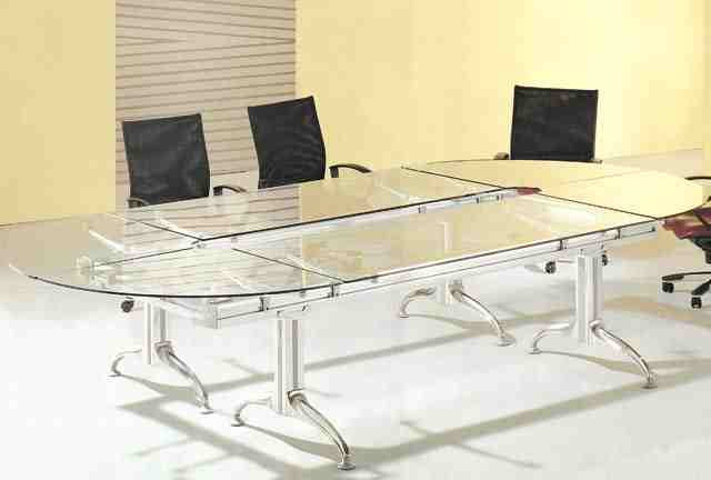 Dior modern glass top boardroom conference table On Sale