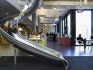 Slide in Google HQ