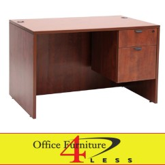 Office Chair Pedestal Do Massage Chairs Really Work C Single Desk 48 X 24 Furniture 4 Lessoffice Less