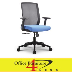 Blue Office Chair Accent Chairs Under 100 Dollars C 611b Ps1 Bl Meshback Ergonomic Task Furniture 4 Lessoffice Less