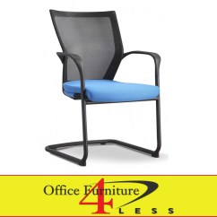Blue Office Chair Custom Chairs C 88b Ps2 Bl Meshback Guest Furniture 4 Lessoffice Less