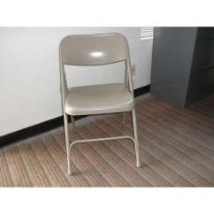 Chair Steel Folding Gray Spandex Covers Used Office Chairs Denver Furniture Ez