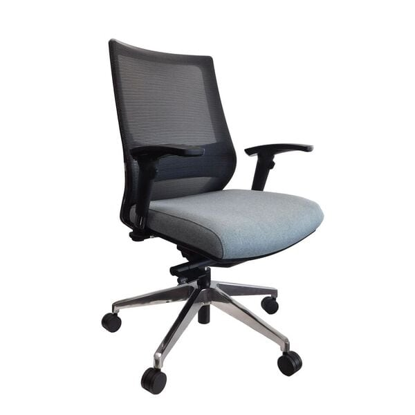 executive mesh office chair swivel visitors back denver furniture ez black with arms and wheels side view