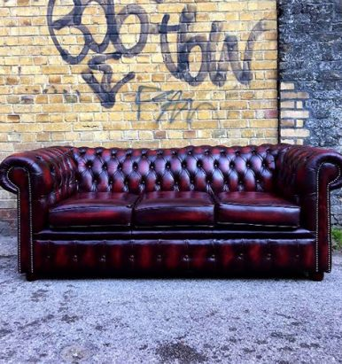 chesterfield sofa london second hand white leather chaise lounge designer seating used sofas