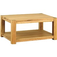 Medara Large Solid Wood Coffee Table | Rectangular Coffee ...