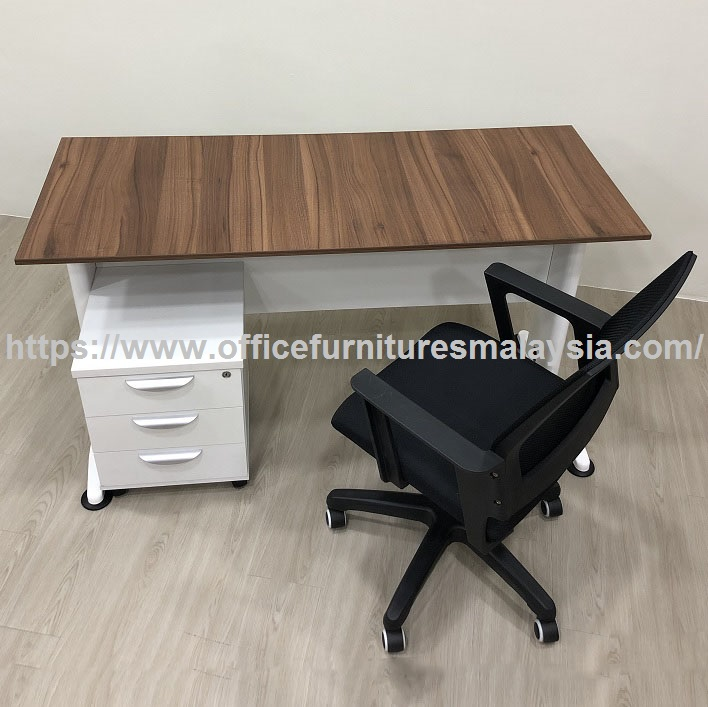 computer desk and chair set cover express 5ft small home office harga meja kerja oak simple design cheap online shop