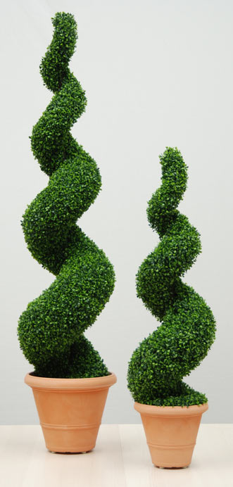 Artificial Buxus Spiral Topiary  Office Furniture Warehouse