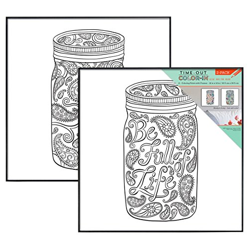 MCS Time-Out Color-In Framed Adult Coloring Pages in Mason