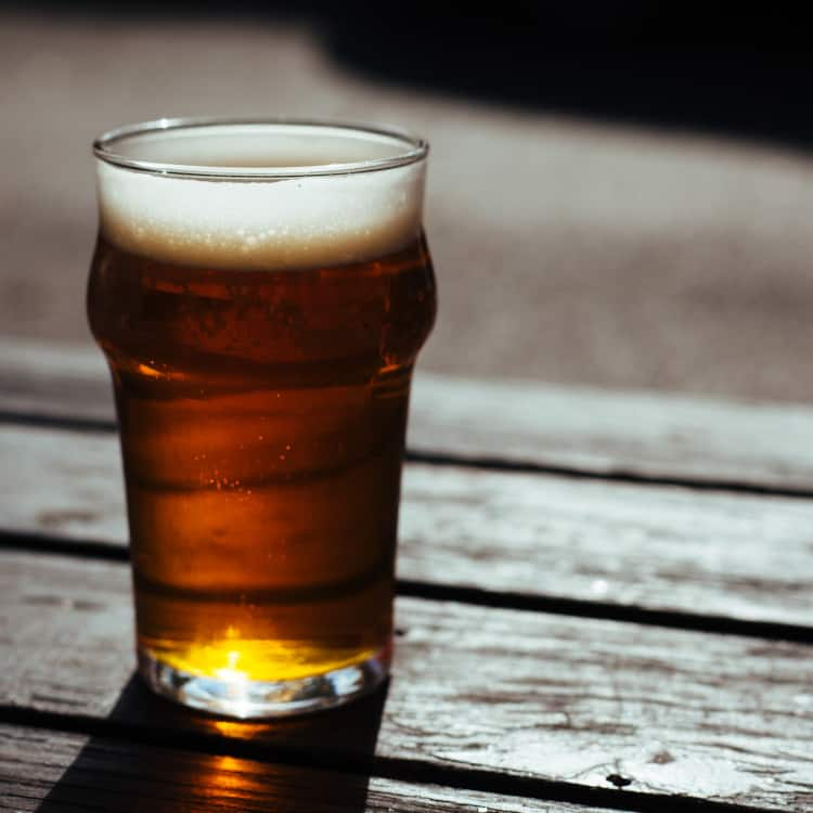 image of a lager, or bottom fermented beer