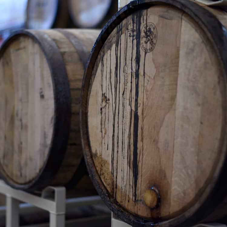 image of a wine barrel used for fermentation