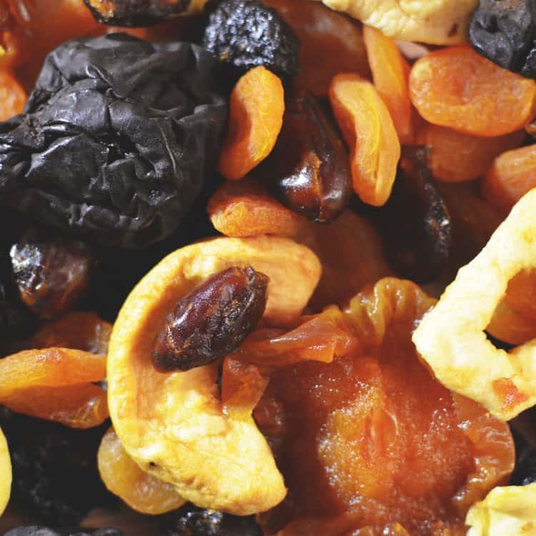 image of dried fruit as a healthy snack for work