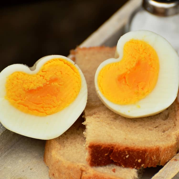 hard-boiled eggs as a healthy snack for work