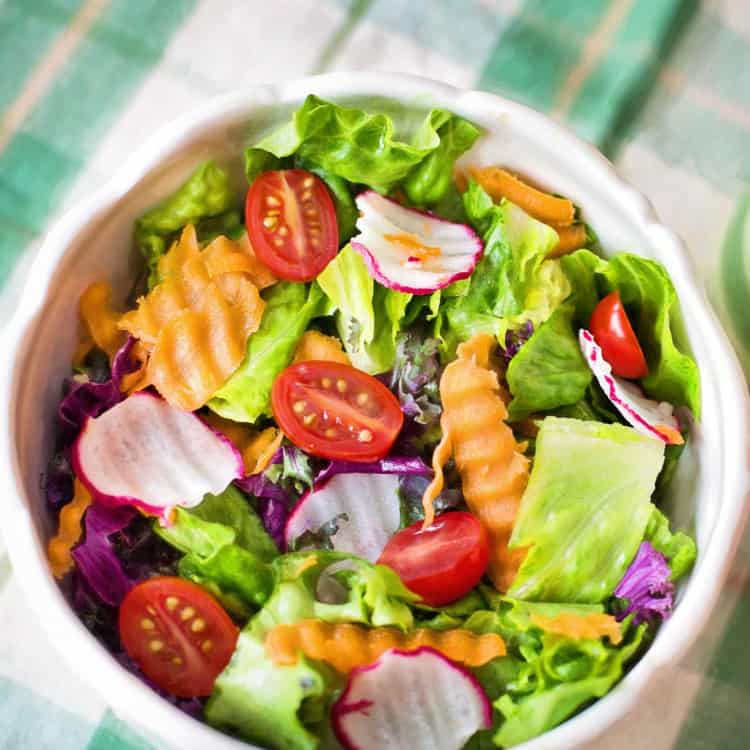 image of a salad as a snack