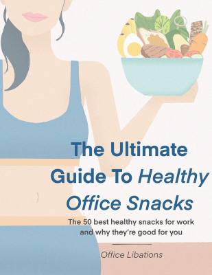 cover illustration for Office Libations guide to healthy office snacks
