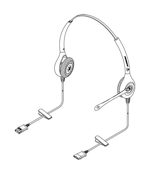 Buy Plantronics H251N-Visual impaired headset w/monitor