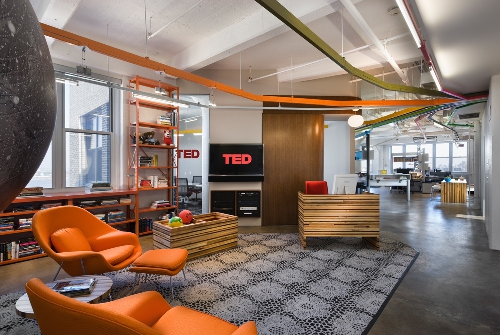 kitchen booths how much to reface cabinets ted conferences' new york city headquarters - officelovin'
