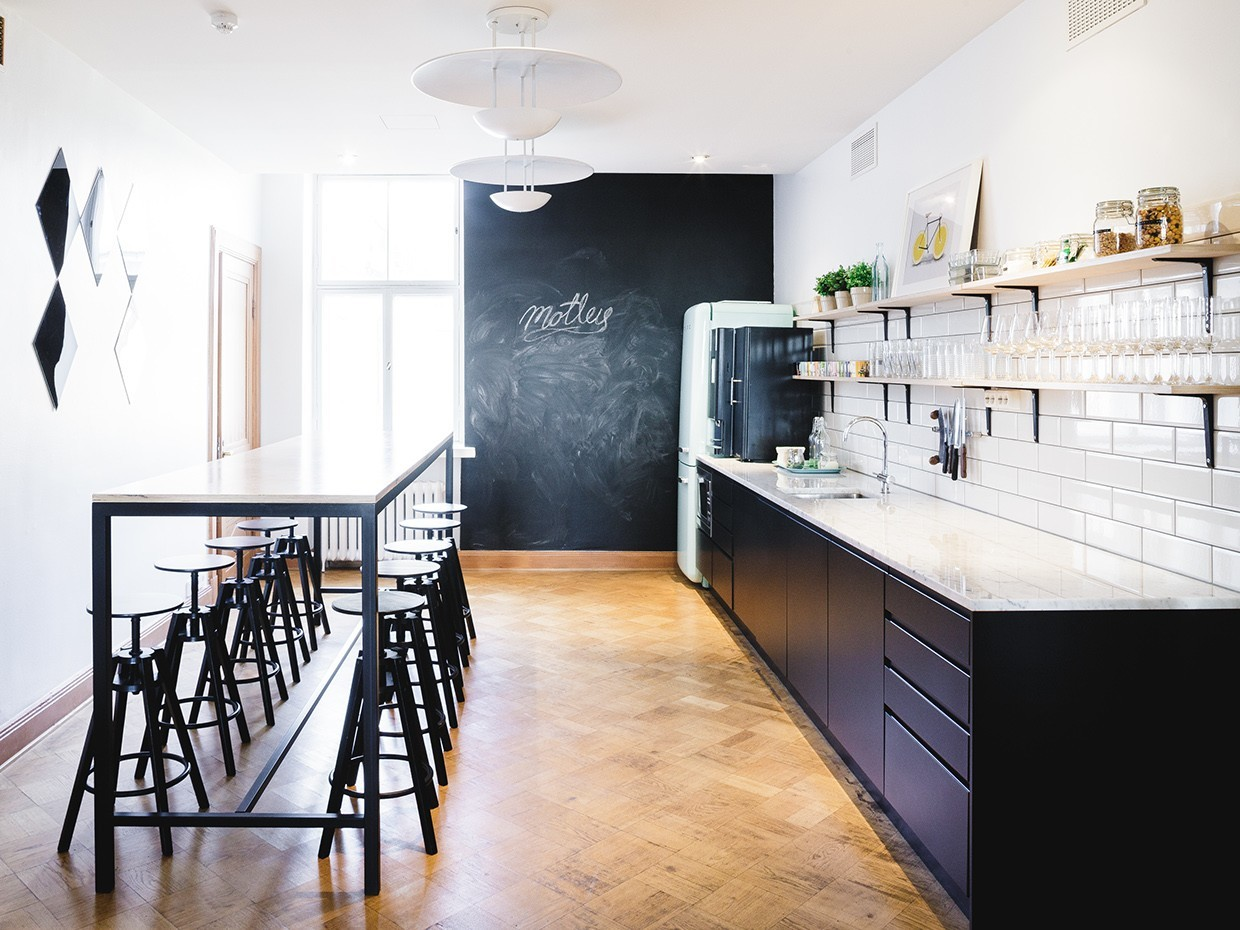 best floors for kitchens kitchen linens a tour of motley's super cool office in helsinki ...