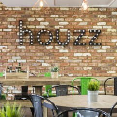 Living Room In Spanish White Sideboards For A Tour Of Houzz's New European Headquarters - Officelovin'