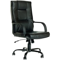 high lift office chair nz peacock accent chairs seating officemax falcon executive back with arms pu black available end may