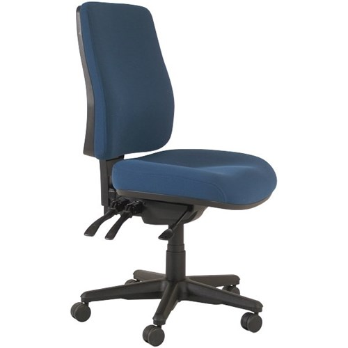 office chair levers covers wedding rustic buro roma high back 3 navy fabric officemax nz
