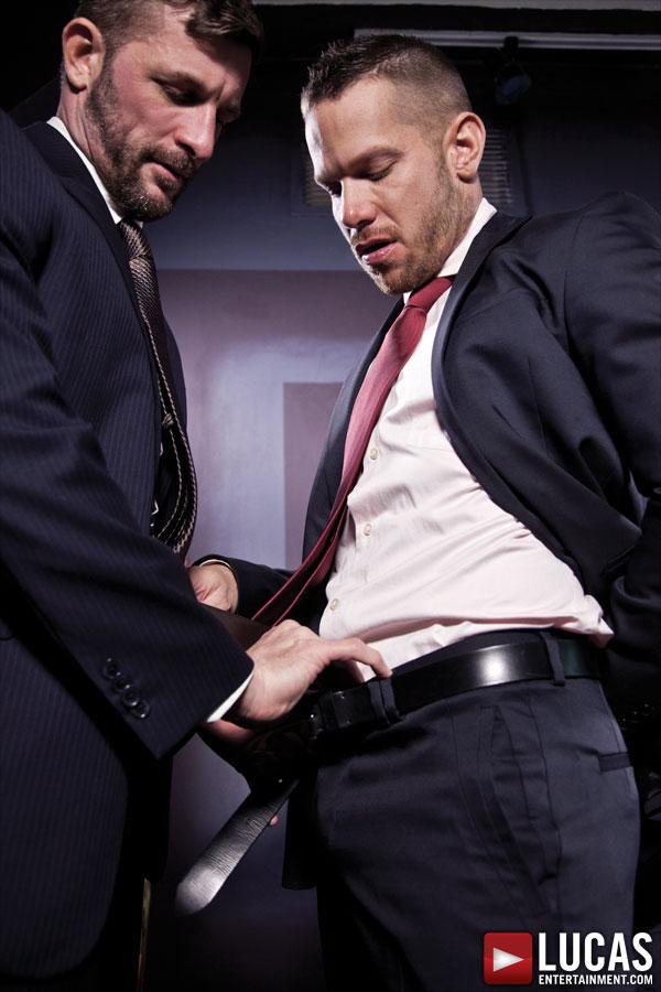 men having sex in suits
