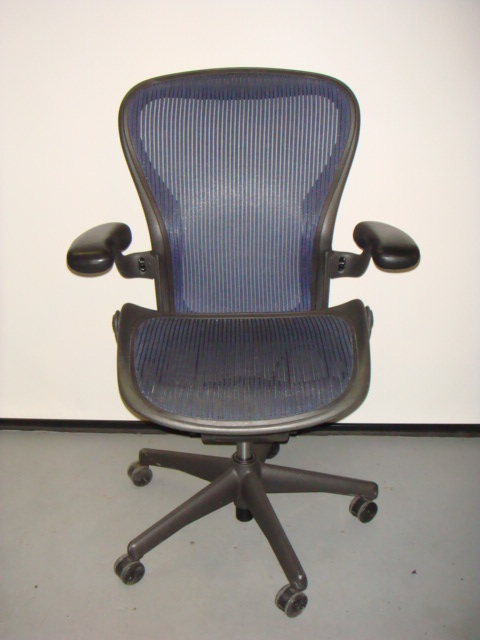 Herman Miller Aeron ChairBlue Mesh  Used Office