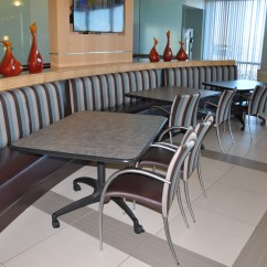Lunch Room Chairs Herman Miller Desk Chair Break Striped Fabric Used Office Furniture