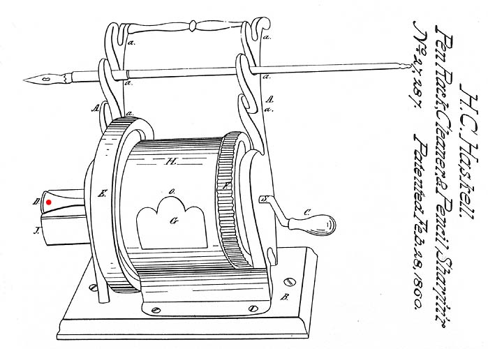 Mechanical Pencil Sharpeners ~ 1884-1899