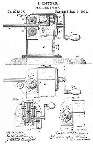 Mechanical Pencil Sharpeners ~ 1884-1899