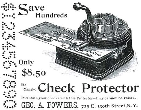 Mechanical Check Protectors 1870-1899