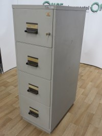 Used Office Storage Chubb 4-Drawer Fireproof Filing ...