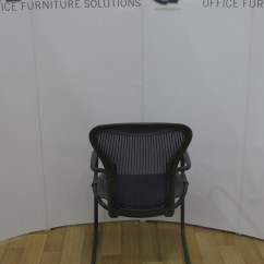 White Ergonomic Office Chair Uk Custom Made Dining Covers Australia Used Chairs Herman Miller Aeron Cantilever Visitors Arm