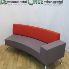 Orange Office Chairs Uk Chicco High Chair Toys R Us Used Orangebox Path Concave Reception Sofa With A Single Arm