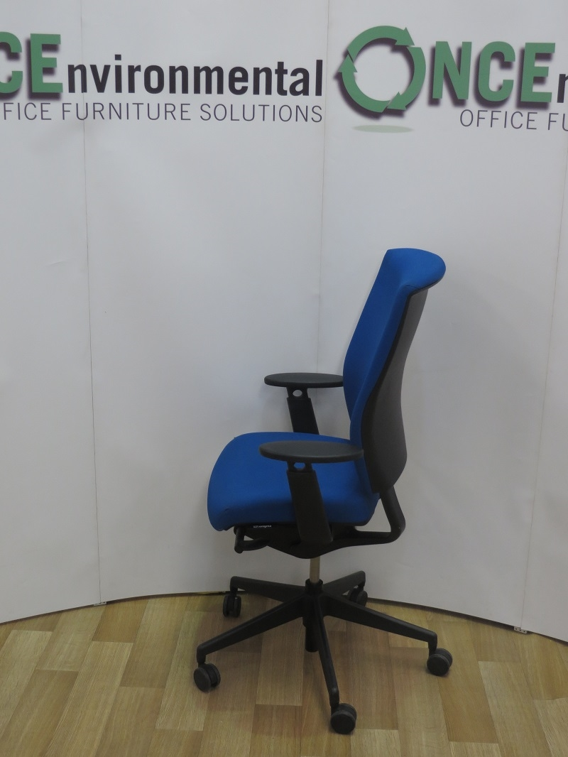 white ergonomic office chair uk mesa and a half glider used chairs senator enigma s21 available in any colour fabric 6 stock