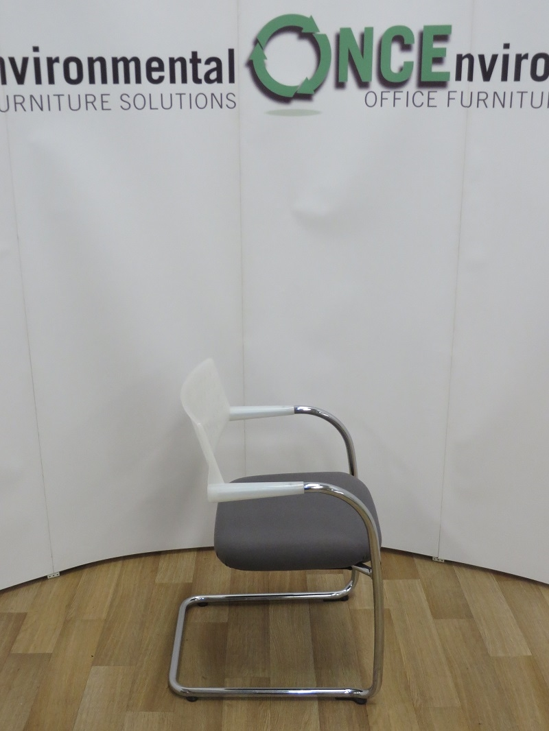vitra office chair price folding wooden rocking used chairs visavis cantilever arm available in any colour fabric