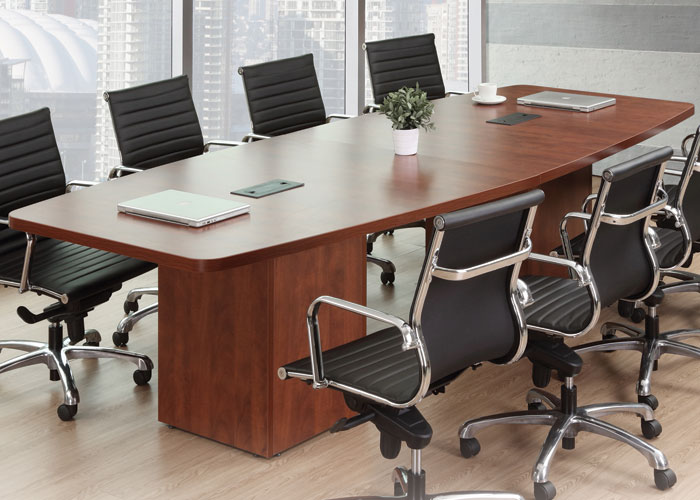 8ft24ft Modern Conference Room Table With Cube Bases