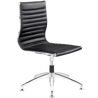 Modern Conference Guest Chair with Metal Chrome Glides ...