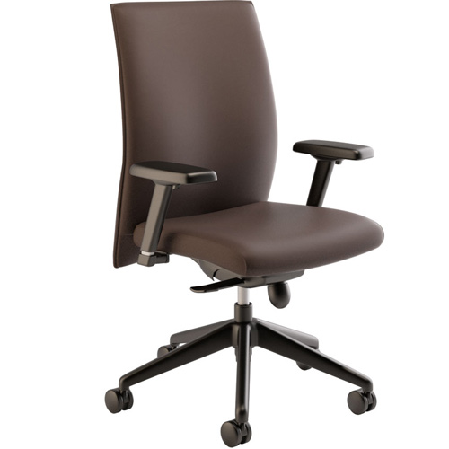 Modern Conference Room Chairs with Brown Leather Options