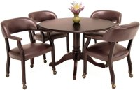 Round Conference Table And 4 Chairs - OfficePope.com