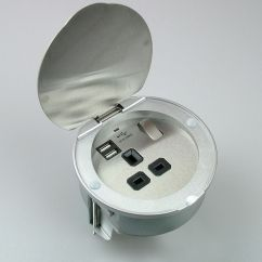 Kitchen Power Grommet Second Hand Cabinets Pgs Usb 13a Stainless Steel With
