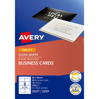 It's about making a connection to the people you want to get to know, and making an impact in what you say and think. Avery 936229 C32028 Quick Clean Business Card 220gsm 85 X 54mm Gloss White Pack 80 Office Products Depot Macarthur